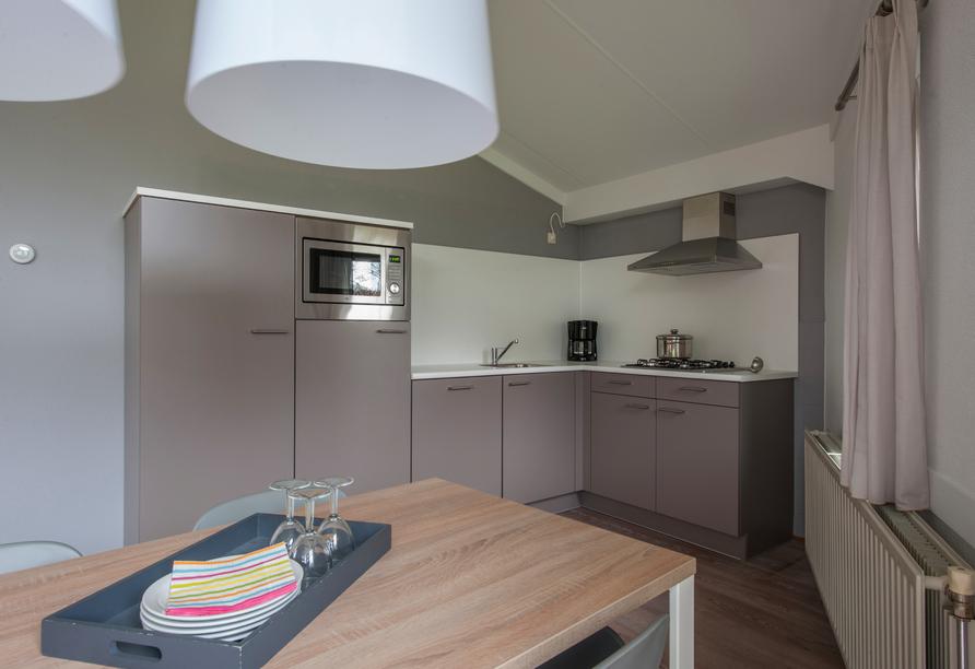 Küchenbeispiel im Bungalow vom Roompot Hof Domburg.