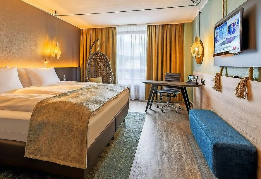 Beispiel eines Doppelzimmers Standard im The Rilano Hotel Oberursel Frankfurt