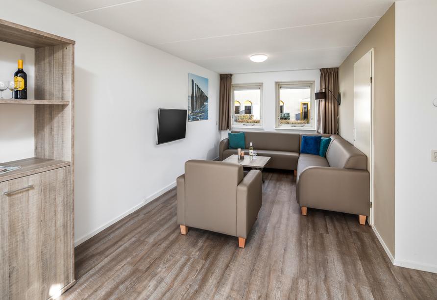 Roompot De Soeten Haert in Noordwelle, Niederlande, Wohnzimmer