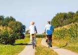 Erkunden Sie das Münsterland auf dem Fahrrad und spüren Sie den Fahrtwind im Gesicht.