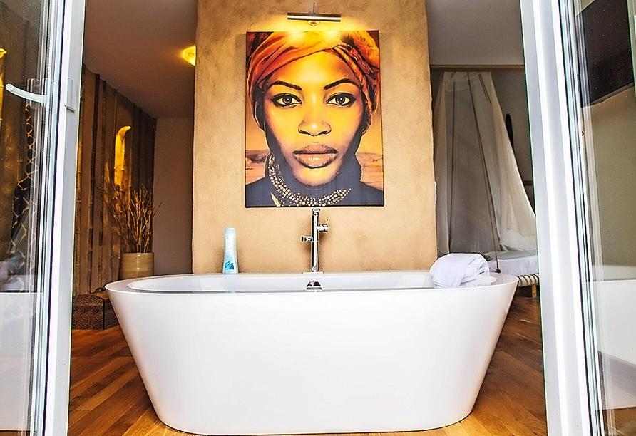 Beispiel einer Suite (hier: Out of Africa-Suite) im Landhotel Beverland