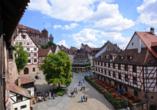 Wunderschöne Fachwerkhäuser prägen die Nürnberger Altstadt.