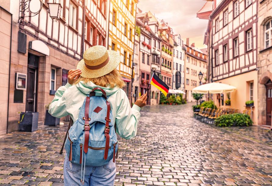 Schlendern Sie in aller Ruhe durch die wunderschöne Nürnberger Altstadt.