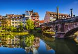 In Nürnberg führen viele Wege über die Pegnitz.