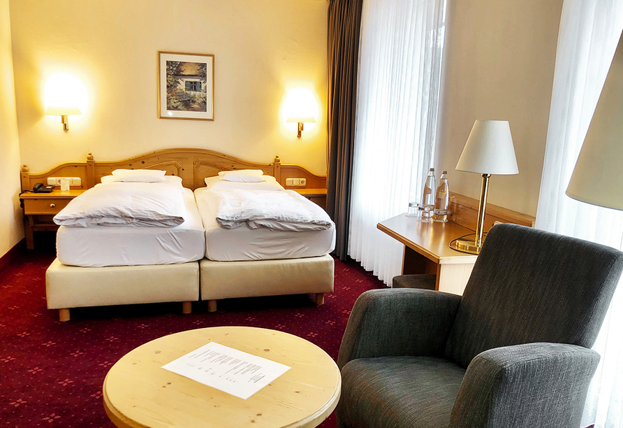 Beispiel eines Doppelzimmers Business im Ringhotel Nidersachsen