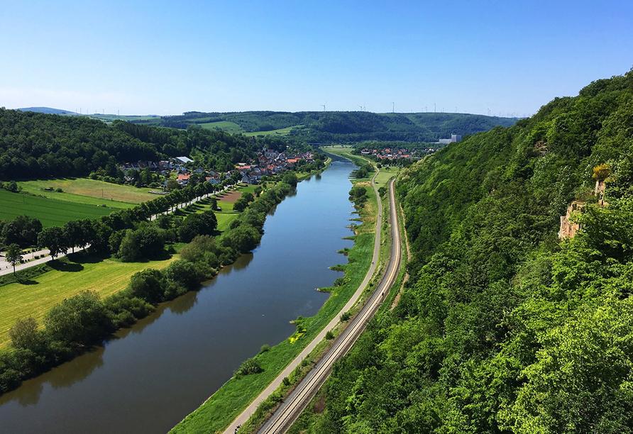 Unternehmen Sie einen Ausflug zum Weser Sky-Walk.