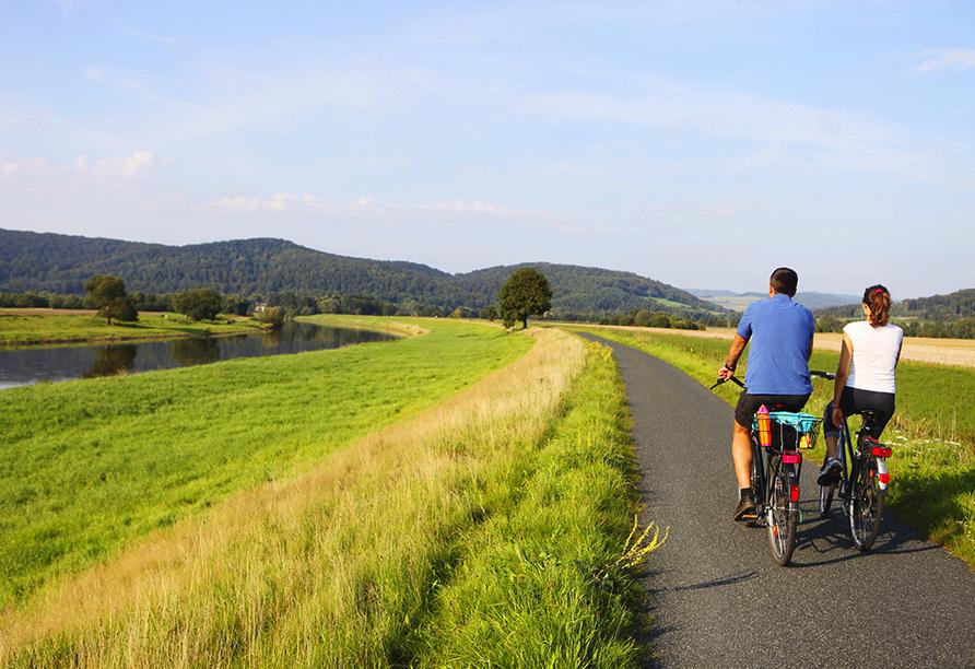 Die Radwege im Weserbergland laden zu großartigen Ausflügen ein.