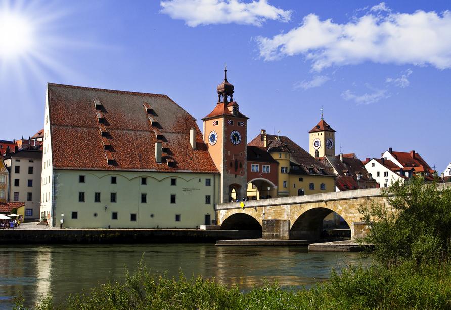 Genießen Sie herrliche Ausblicke auf Regensburg,