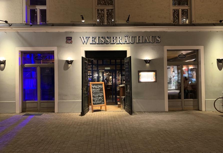 Außenansicht des Regensburger Weissbräuhaus