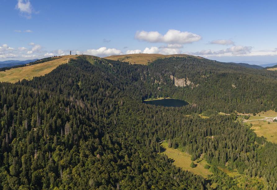 Der mächtig Feldberg im Schwarzwald