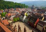 Wenn Sie möchten, können Sie einen Ausflug nach Freiburg unternehmen.