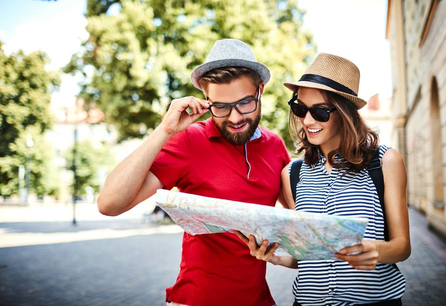 Entdecken Sie die Region mit ihren zahlreichen Sehenswürdigkeiten.