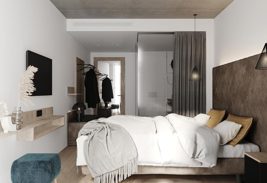 Beispiel eines Doppelzimmers im Hotel LOOM