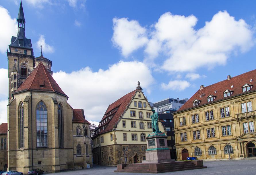 Der Schillerplatz in Stuttgart