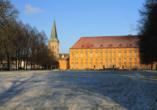 Auch im Winter ist das Osnabrücker Schloss hübsch anzusehen.