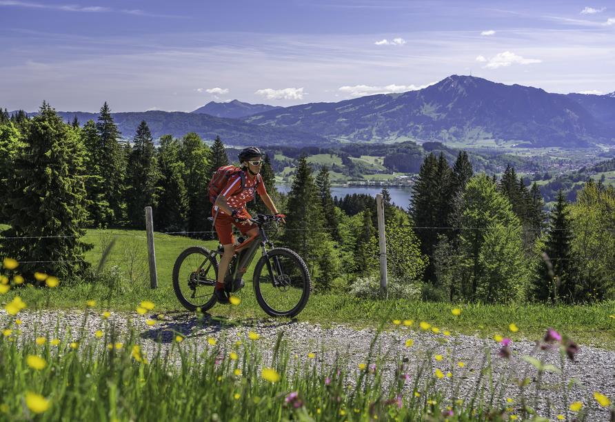 Sorell Hotel City Weissenstein in St. Gallen, Radfahrerin