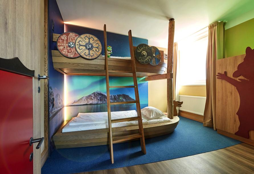 Ostsee Resort Dampland, Beispiel Familiensuite Etagenbett