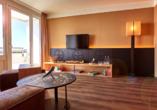 Ostsee Resort Dampland, Beispiel Familiensuite Wohnraum