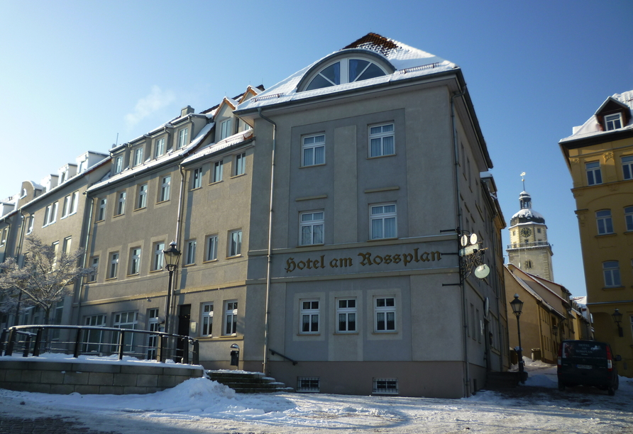 Hotel am Rossplan in Altenburg, Außenansicht Hotel