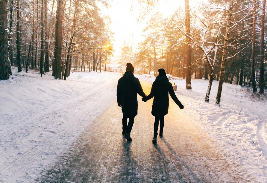 Ein Winterspaziergang gehört zum Urlaub dazu.