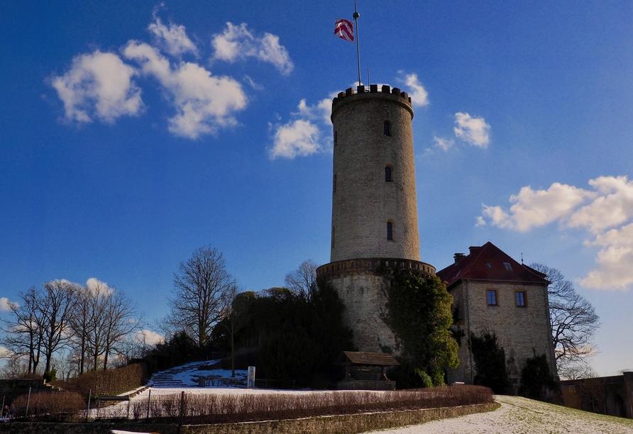 Die Sparrenburg ist auch im Winter ein schönes Ausflugsziel.
