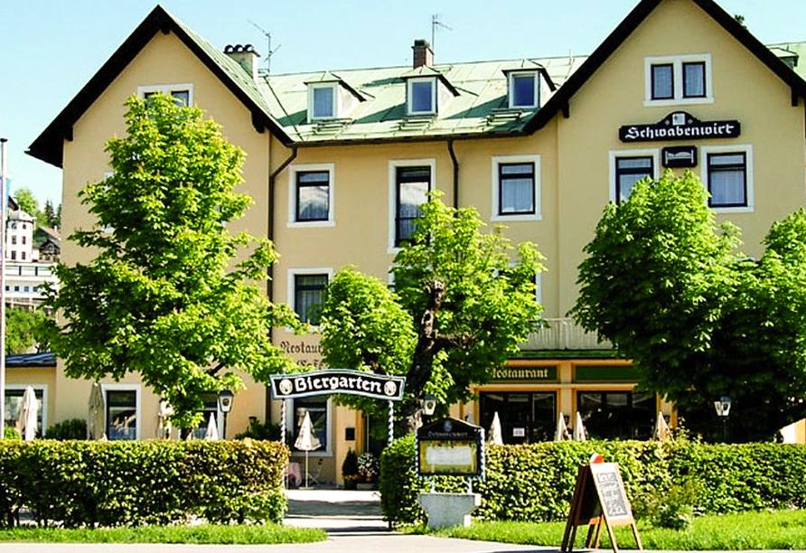 Außenansicht vom Hotel Schwabenwirt in Berchtesgaden