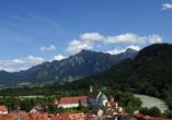 Die schöne Stadt Füssen eignet sich hervorragend für einen Ausflug.