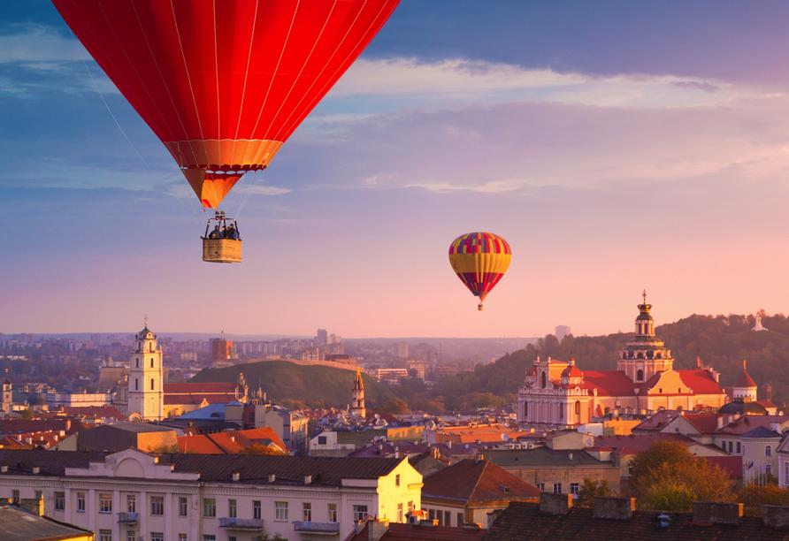 Heißluftballon über Vilnius