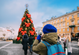 Auch auf den wunderschönen Weihnachtsmarkt von Vilnius dürfen Sie sich freuen.
