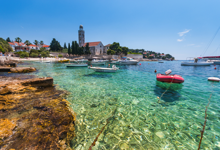 Blaue Reise Dalmatien, Schiffe Hafen