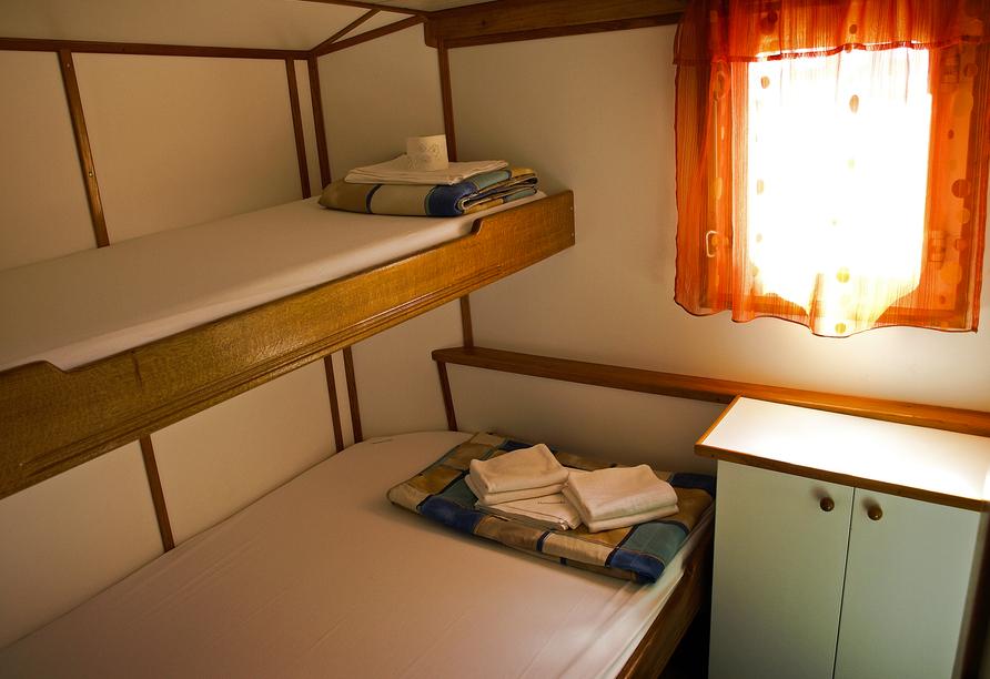 Blaue Reise Dalmatien, Beispiel Kabine