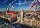 Ein Ausflug in die bayerische Landeshauptstadt München ist möglich.