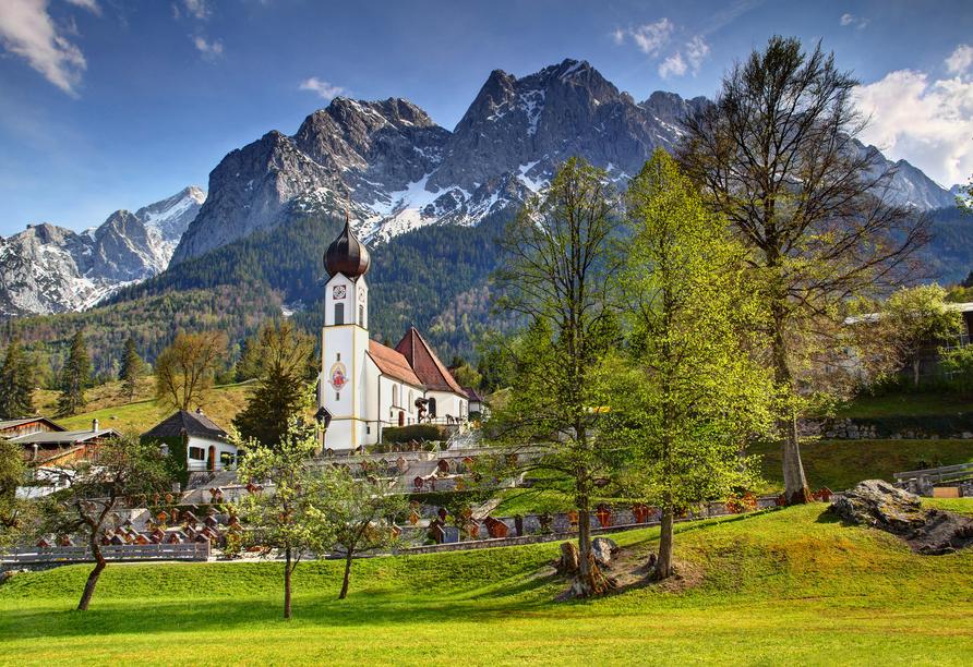 Mit seiner Ursprünglichkeit eignet sich Garmisch-Partenkirchen hervorragend für einen Ausflug.