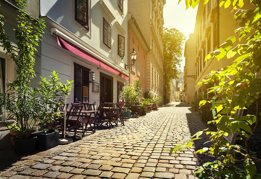 Wien zeigt sich neben den imposanten Bauten auch von seiner gemütlichen und romantischen Seite.