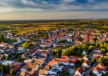 Blick vom Römerberg auf Speyer