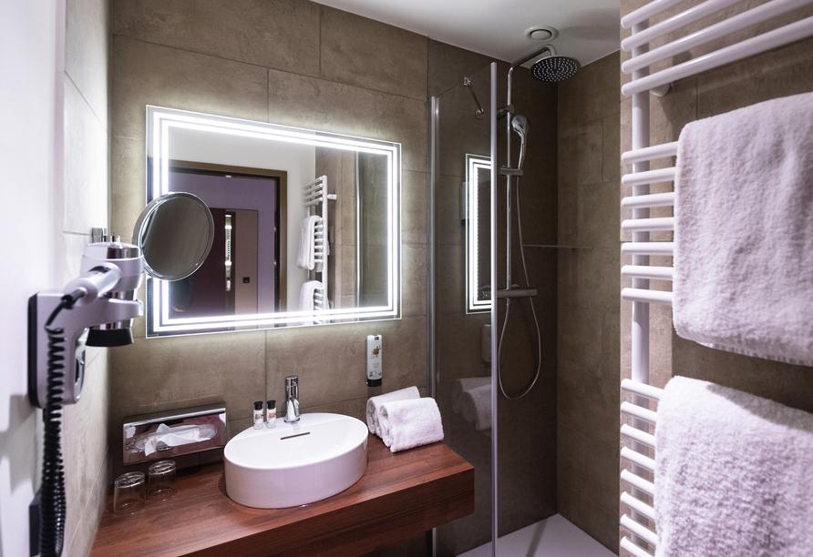 Beispiel eines Badezimmers im AMEDIA Plaza Speyer