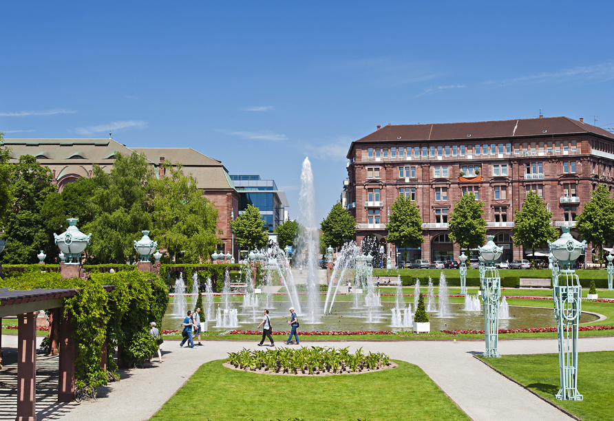 Der Friedrichsplatz in Mannheim