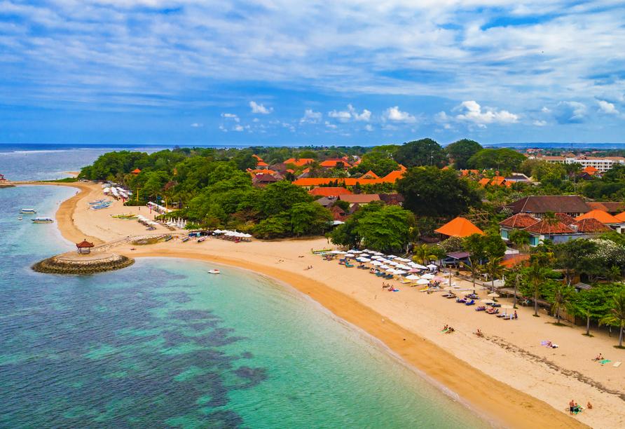 Im Süden Balis erwartet Sie der Urlaubsort Sanur.