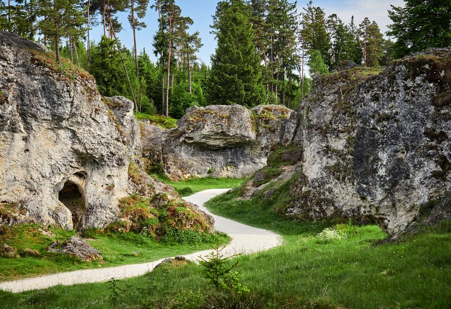 Die Felsenmeer beim Wental Runde von Essingen ist eine leichte Wanderung.