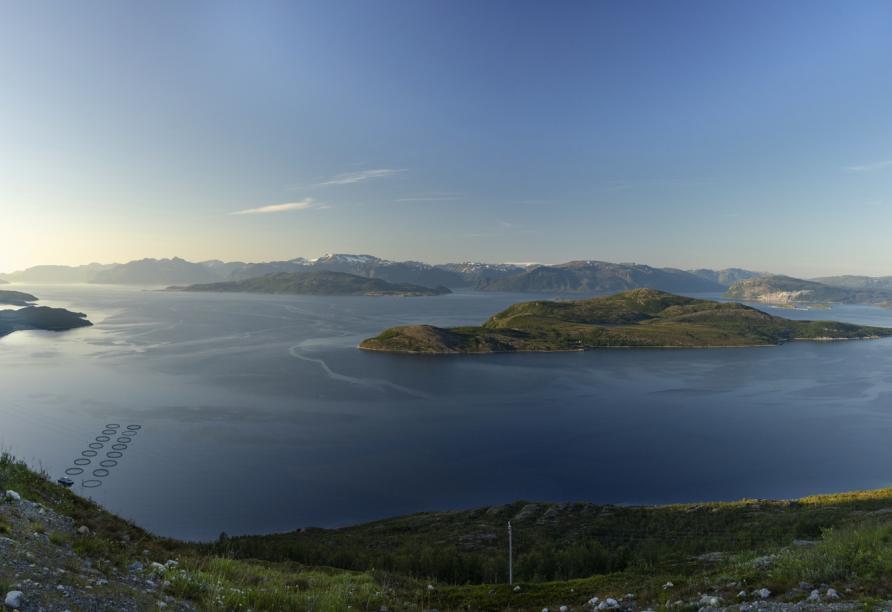 Ein majestätischer Anblick: Der Kvænangen Fjord.