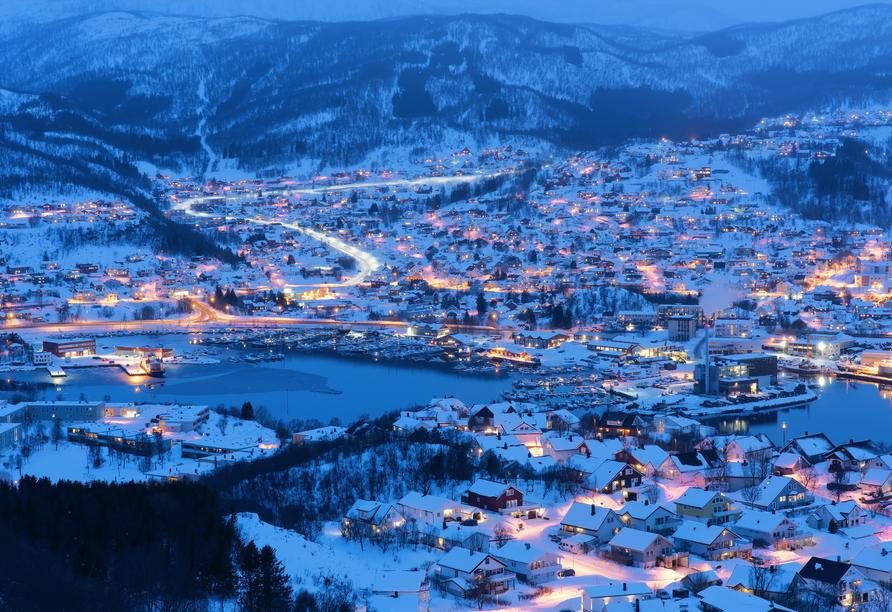 Harstad im Winter