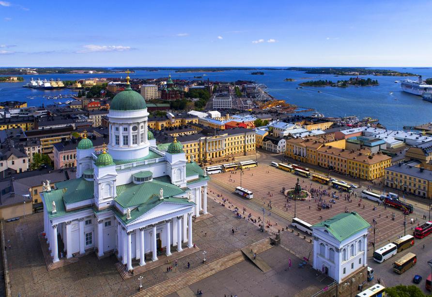 Helsinki ist die erste und letzte Station Ihrer Reise.