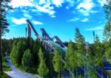 Die Skisprungarena in Lahti ist ein beeindruckendes Fotomotiv.