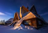 Die Kirche von Kiruna ist hübsch anzusehen.