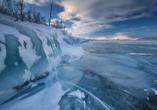 Der Torneträsk See ist meist bis Mitte Juni mit Eis bedeckt. Bestaunen Sie das bizarre Bild.