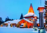 Hier werden KInderträume wahr: Das Weihnachtsmanndorf in Rovaniemi.