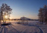 Winterliche Landschaft um Oulu
