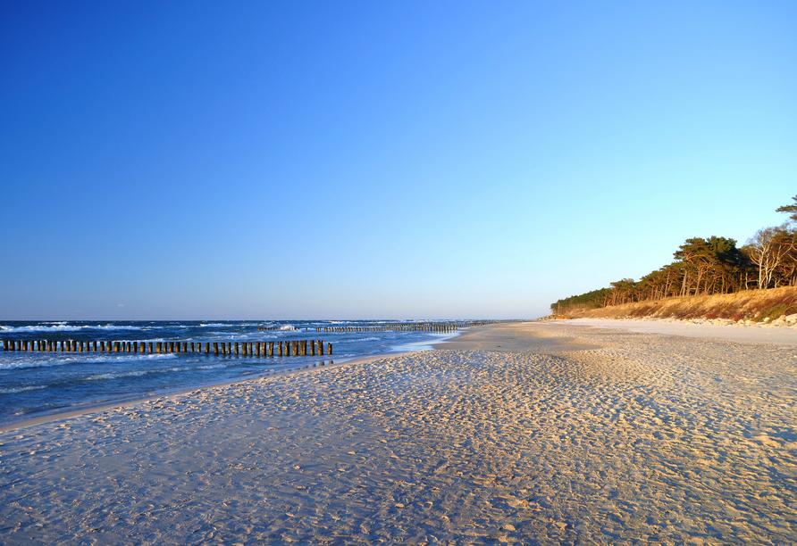 Am Strand können Sie die Seele baumeln lassen.