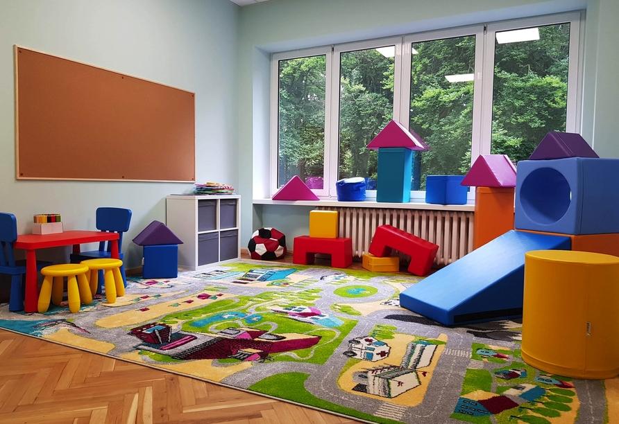 Für die kleinen Gäste steht ein Spielzimmer zur Verfügung.