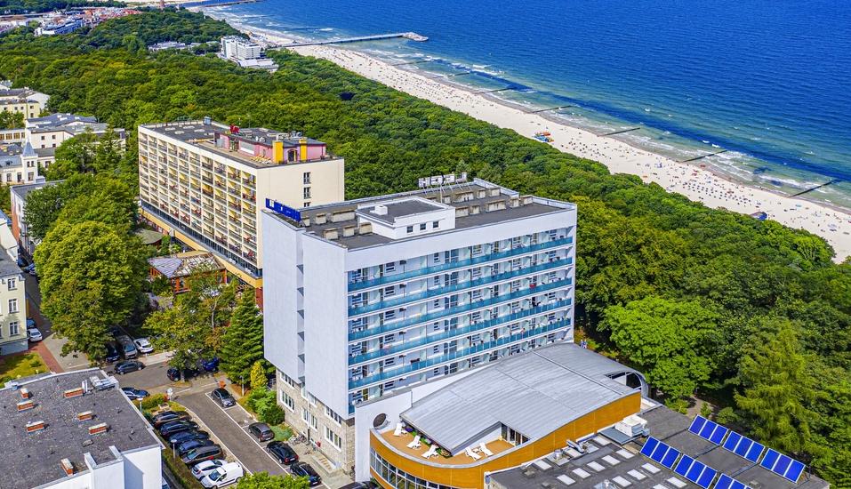 Das Besondere am Hotel Lech ist unter anderem die schöne Strandlange.